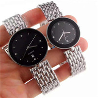 New Elegant classic couples watches quartz movement stainles...
