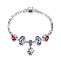 hot sale 925 sterling silver with rose bracelet for girlfrei...