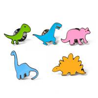 Pins broches botão pinos geometria jeans jaqueta pino crachá criativo desenho animado planta roupas jóias presente 5style colorido dinossauro