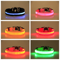 New Super Bright Safty Multicolor LED Dog Collar USB Recharg...