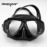 Top low profile black silicone scuba diving mask Tempered gl...