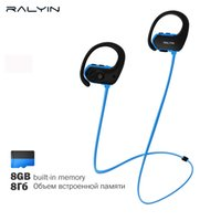Ralyin Bluetooth Cuffie Sport bluetooth Mp3 Player Auricolari wireless  auricolari 8GB Memory Storage Mic impermeabile 1bf0e90c4fc9
