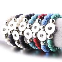 8styles щелкает ювелирные изделия 10 мм Лава камень бирюза Оснастки кнопка браслет DIY Оснастки кнопка ювелирные изделия для женщин эфирное масло диффузор браслет