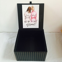folding gift box wholesales bridal shower party bridesmaid g...