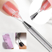 Stainless Steel UV Gel Polish Remover Triangle Stick Rod Pus...