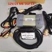 MB Star C3 OBD2 сканер star диагностика c3 с пятью полными кабелями новейшее программное обеспечение HDD для Mercedes Benz sd подключить DHL бесплатно