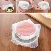 Silicone Food Wraps Food grade Keeping Food Fresh Wrap Reusable high stretch Wraps Seal Vacuum bowl Cover Stretch Lid