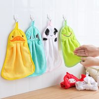 Creativity cute cartoon style hanging towel super absorbent ...
