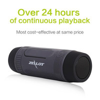 Zealot S1 Speaker Bluetooth Outdoor Bicicletta Portatile Subwoofer Bass Altoparlanti Wireless Banca di Potere + luce del LED + Bike Mount +