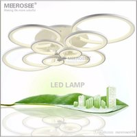 White LED Chandelier Lustre Light Large LED Ring Lamp Fixtur...