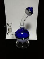 süsser Ball 2018 blaue Farbe Ball Rigs Glasbong Dab Rig Glas Wasserleitungen incycler Funktion Pin Loch perc Wasserpfeifen 14 mm Joint