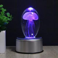Qualle LED Nachtlicht Lampe Farbwechsel Tisch Schreibtischlampe Nachttischlampe Geschenk # R54