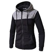 Mens Hoodies Sweatshirts 2018 New Fall Winter Fashion Brand Patchwork Hooded Zipper Hoodie Cardigan Sweatshirt Men Hip Hop Hoody