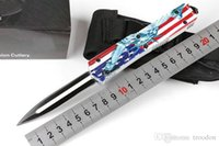self defense Sword ant American flag dual action D E blade H...