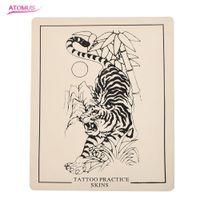 Tattoo Praxis Haut Tiger Silikon Permanent Make-up Kosmetische Tattoo Tool Training Praxis Gefälschte Haut Für Anfänger Ausgezeichnete Kosmetische Sup