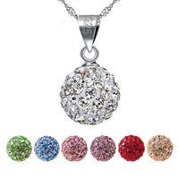 Shambhala kristall smycken s925 sterling silver lyxiga rhinestone tillbehör mode rhinestone kvinnlig hänge