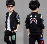 New Spring Autumn Fashion Boys Long - Sleeved Sweater shark ...