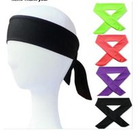 Solid Cotton Tie Back Headbands Stretch Sweatbands Hair Band...