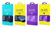 Personnaliser acceptable personnalité design en verre trempé écran protecteur Package Retail Box pour téléphone portable multi couleurs