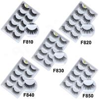 3D Vison Cabelo Dos Cílios 5 Par Cílios Pestana Extensão Pestana Hiar Full Strip Lashes Do Olho Por fibra química DHL