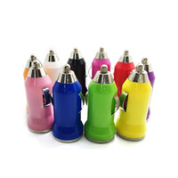 For Iphone 6 USB Car Charger Colorful Bullet Mini Car Charge...
