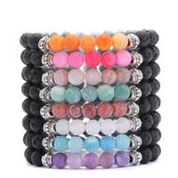 Nouveau Haute Qualité Naturel Lava Rock Perles Bracelet Nouvelle Mode Tigre-Oeil Bracelets Noir Lave Pierre Energie Yoga Perlé Bracelet