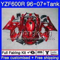 Body+Tank For YAMAHA Thundercat YZF600R 96 97 98 99 00 01 229HM.2 YZF-600R YZF 600R ALL Glossy red HOT 1996 1997 1998 1999 2000 2001 Fairing