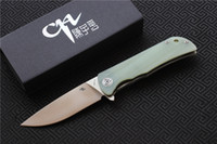 Free shipping, CH3001- G10 Flipper folding knife D2 blade ball...