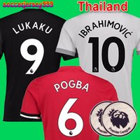 Top Thailand quality POGBA soccer jerseys 2017 2018 17 18 fo...