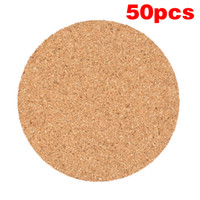 JosheLive 50pcs Plain Round Wood Drink Coffee Cup Mat Heat R...