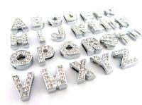 Дешево 260 шт. / Лот DIY Слайд буквы с Chinstone Charms для 10 мм 8 мм домашних животных Ошейники Бесплатная доставка