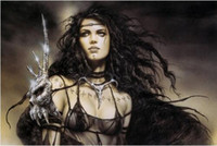 Louis roy fantasy charming warrior painting art sexy babe ro...