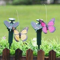 Solar Power Танцы Летающие бабочки развевающиеся вибрации Fly Hummingbird Летящие птицы сад Двор украшения Смешные игрушки OOA9674