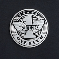 Silver coin $one Fuck letter collection commemorative coin h...