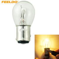 Feeldo 10pcs 24 V Bay15D 1157 P21 / 5W S25 Auto Clear Glass Lamp Brake Tail Bulb Truck Bus Bus indicatore Lampada alogena # 1227