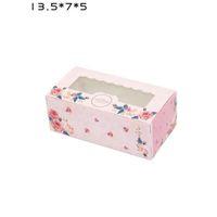 3 formati rosa blu carta kraft cake box con finestra in PVC regalo confezione regalo cookie / caramelle / scatola di noci confezione da dessert ZA6588
