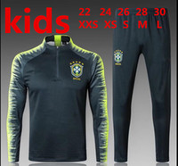 2018 Brazil kids tracksuit training suit Uniforms Chandal ki...
