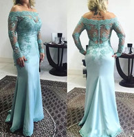 O mais novo design mãe do vestido de noiva fora do ombro vestidos de noite rendas mangas vestidos de mãe vestido formal das mulheres