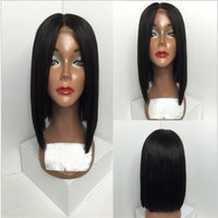 Wholesale Black Short Bob Women Human Hair Lace Wigs 130% De...