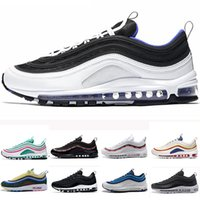 2018 New South Beach 97 97s zapatillas Triple blanco negro amarillo Og Metallic Gold Silver Bullet Entrenador de hombres Mujeres zapatillas deportivas 36-45