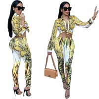 Yellow Women' s Apparel Cardigan Tracksuits Two Piece Pr...