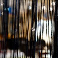 Rideaux perlés Sheer porte fenêtre Panneau de chambre Glitter Boule de cristal Tassel cordes ligne porte fenêtre Salle Rideau Diviseur décorative