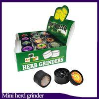 3D mini Muller Herb Grinder Trituradora de humo de aleación de zinc Mini trituradora de tabaco de metal 3 capas 30 mm Diamter colores surtidos YW849 0266222