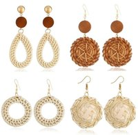 2018 New Fashion Braid Bamboo Earrings Rattan Earrings Woven Personalized for Women 20 Styles Available Selection