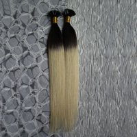 100% humano 100G 100S Ombre T1B / 613 Extensiones de cabello rubio 1g U Tip Keratina Extensiones de cabello Fusión Extensiones de cabello Cápsulas