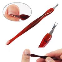 CuticleTrimmer Pusher di rimozione di Pedicure del manicure Nail Care Nail File File di bellezza Taglio strumento trucco Strumenti RRA2795