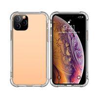 Transparente Telefon-Fälle für iPhone 12 11 Mini PRO MAX XS XR 8 7 PLUS TPU schützend stoßfest Klarer Fallabdeckung