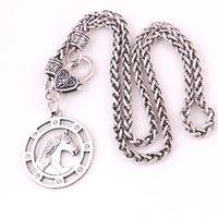 HL0085 Ventas directas de fábrica retro amuleto collar animal caballo vikingo twist cadena collar ajustable par europeo joyería religiosa