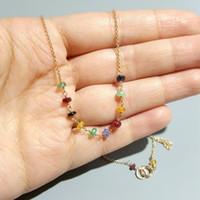 95f25dd116fd Compre Esmeralda De Imitación Elegante Collares Colgantes 18 K Oro ...