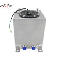 RASTP de alta calidad Nueva universal 10L de aluminio de combustible sobretensiones celular del tanque de combustible Espejo Plata polaca Sin sensor RS-OCC021